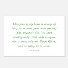 Cute House christmas Postcards (Package of 8)