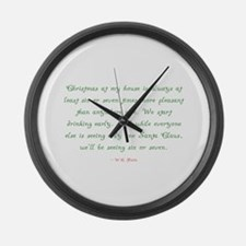 Funny Fields Large Wall Clock