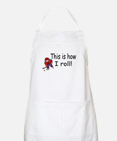 This Is How I Roll (Hockey) BBQ Apron