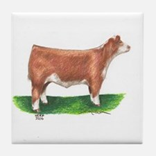 Hereford Steer Tile Coaster