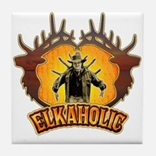 elkaholic the pack out Tile Coaster