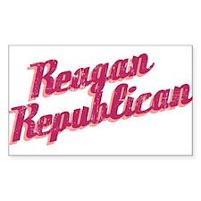 Reagan Republican (pink) Rectangle Decal
