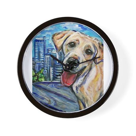 Downtown Dog Wall Clock