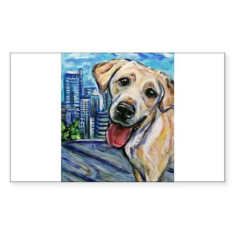 Downtown Dog Rectangle Sticker 10 pk)