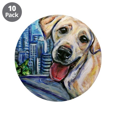 """Downtown Dog 3.5"""" Button (10 pack)"""