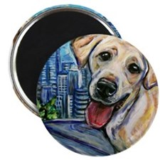 """Downtown Dog 2.25"""" Magnet (100 pack)"""