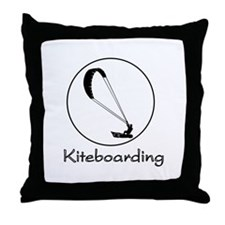 Kiteboarding Kitesurfing Throw Pillow