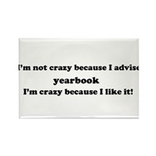 Yearbook Crazy Rectangle Magnet