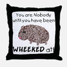 Wheeked At Throw Pillow