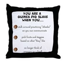 Guinea Pig Slave Throw Pillow