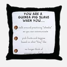 Guinea Pig Slave Throw Pillow