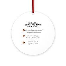 Guinea Pig Slave Ornament (Round)