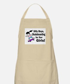 Silly Boys, Skateboarding Is For Girls! BBQ Apron