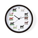Show Cattle Wall Clock