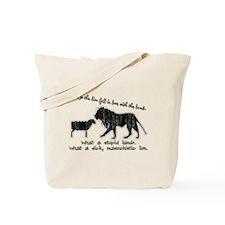 Twilight Stupid Lamb, Sick Lion Tote Bag