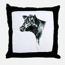 Angus Cow Throw Pillow
