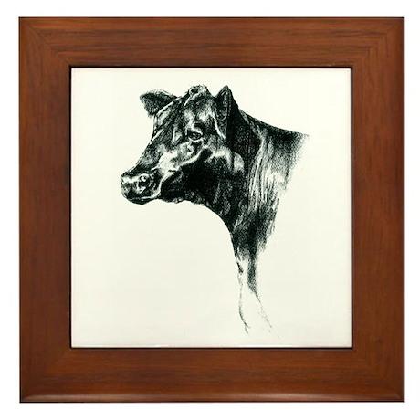 Angus Cow Framed Tile