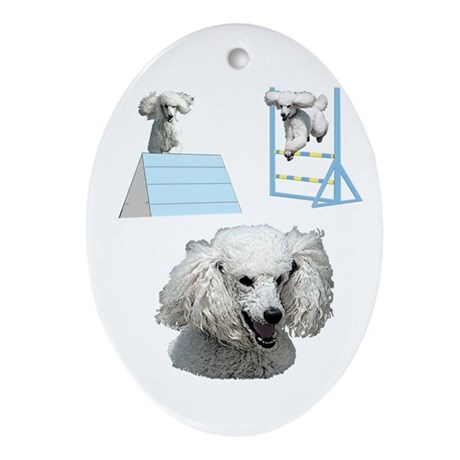 Proudly Owned Poodle Ornament (Oval)