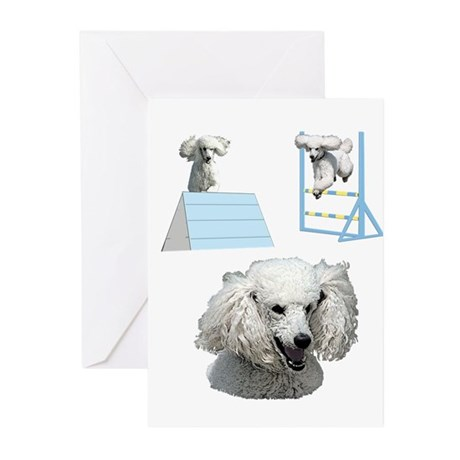 Proudly Owned Poodle Greeting Cards (Pk of 20)