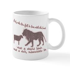Twilight Pink Lion and Lamb Mug