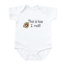 This Is How I Roll (Baseball) Infant Bodysuit