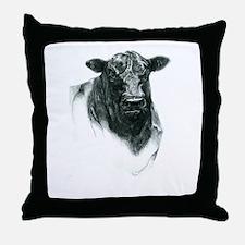 Angus Bull Throw Pillow