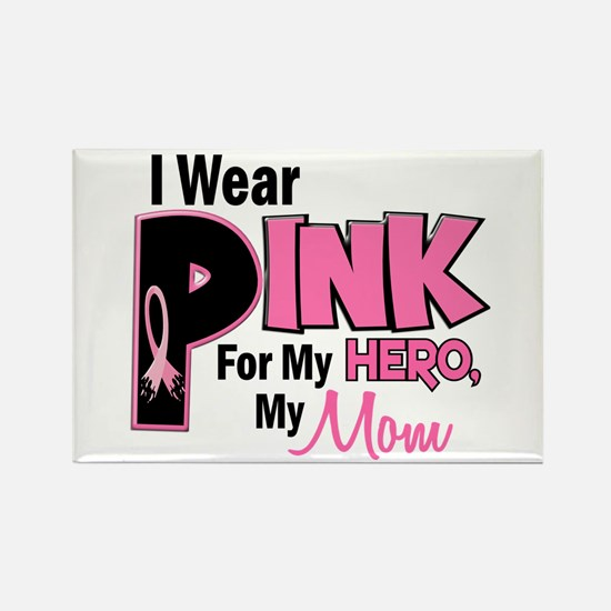 I Wear Pink For My Mom 19 Rectangle Magnet