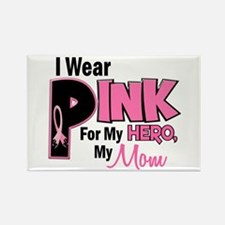 I Wear Pink For My Mom 19 Rectangle Magnet (10 pac