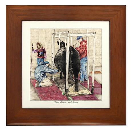 """Bred Owned and Shown"" Framed Tile"