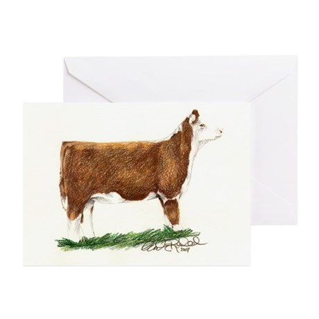 Hereford Heifer Greeting Cards (Pk of 20)