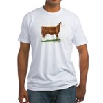 Hereford Heifer Fitted T-Shirt