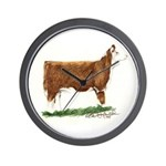 Hereford Heifer Wall Clock