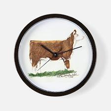 Hereford Heifer Wall Clock