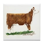 Hereford Heifer Tile Coaster