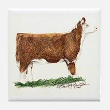 Hereford Heifer Tile Coaster