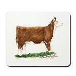 Hereford Heifer Mousepad