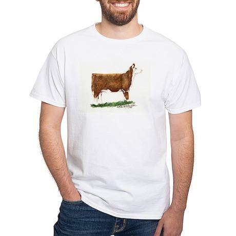 Hereford Heifer White T-Shirt