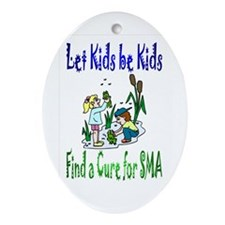 Let Kids be Kids Oval Ornament