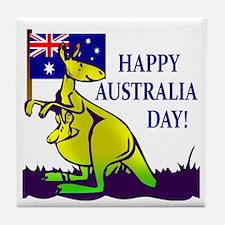 Australia Day Tile Coaster