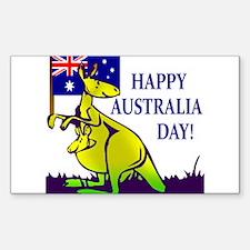 Australia Day Rectangle Decal