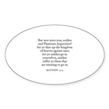 MATTHEW 23:13 Oval Decal