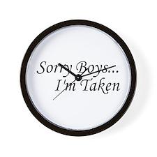 Sorry Boys...I'm Taken Wall Clock
