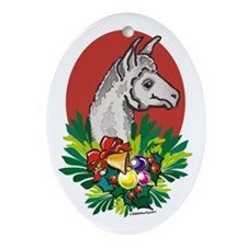 White Llama Christmas Ornament
