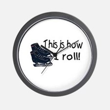 This Is How I Roll (Ice Skates) Wall Clock