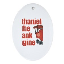 Nathaniel the Tank Engine Oval Ornament