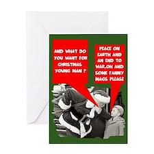 Funny Santa porn mag Greeting Card