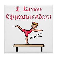I Love Gymnastics (Blaire) Tile Coaster