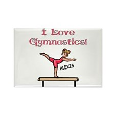 I Love Gymnastics (Alexis) Rectangle Magnet