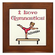 I Love Gymnastics (Alexandra) Framed Tile