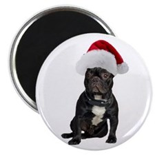 French Bulldog Christmas Magnet